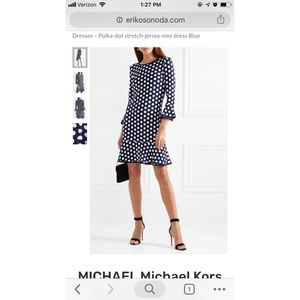 Michael Kors Polka Dot flounce dress - brand new